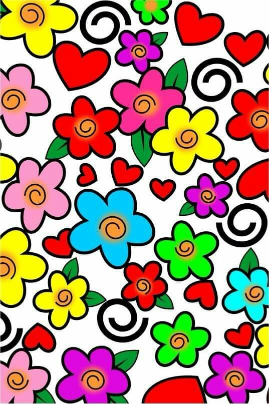 Colorful girly Wallpaper