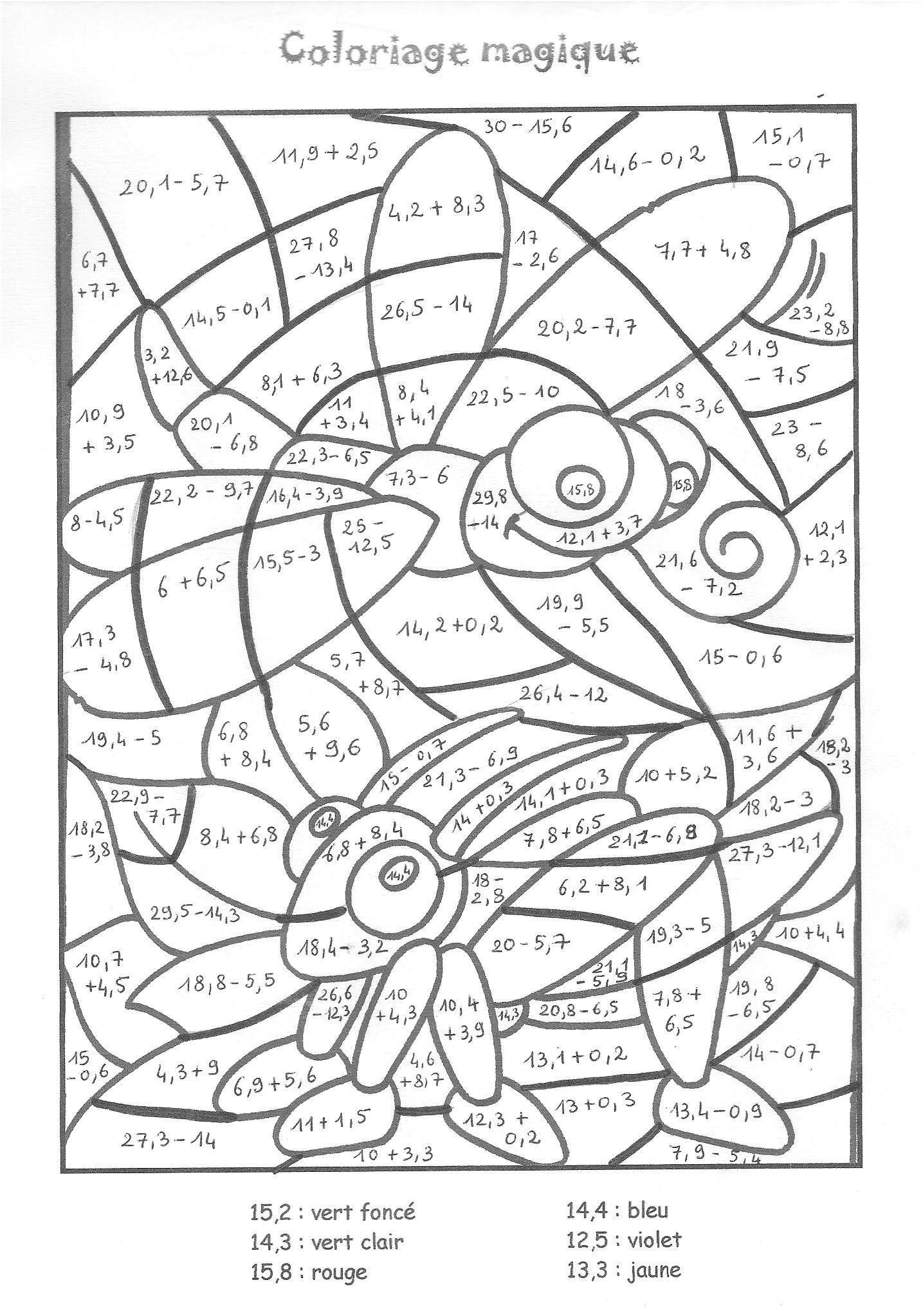 11 Attrayant Coloriage Magique Table De Multiplication
