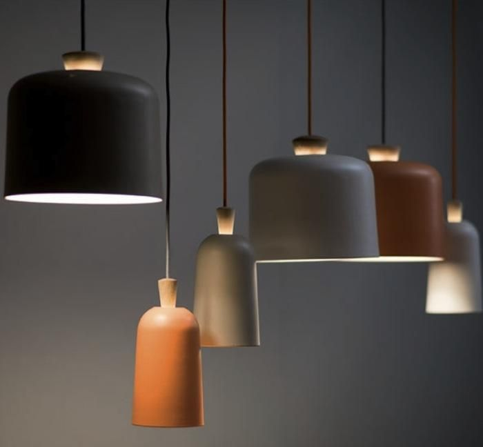 Love the organic warmth of Large and Small Fuse Lamps by Note Design Studio, Remodelista