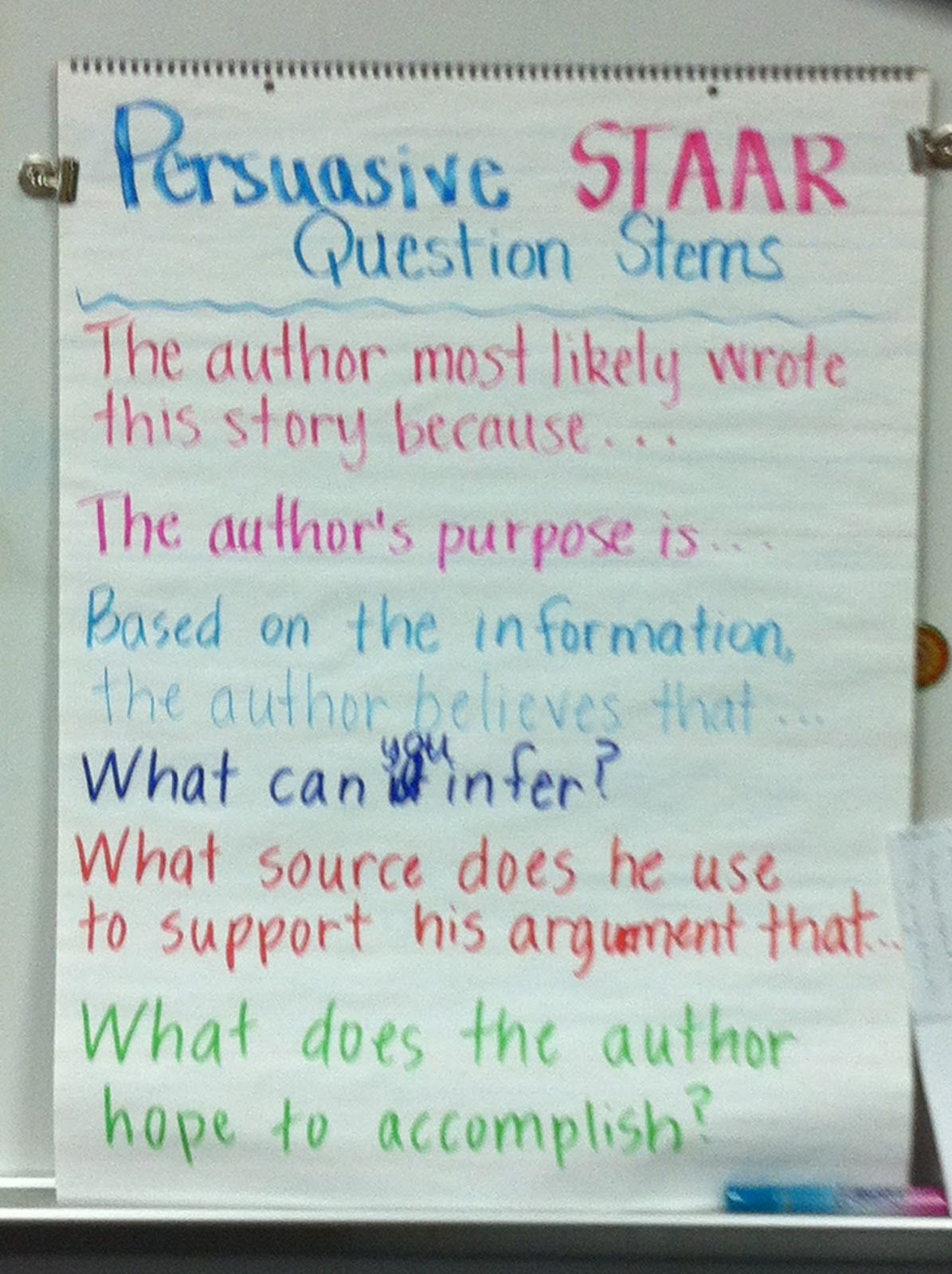 reading persuasive text questions stems anchor chart the big six reading persuasive text questions stems anchor chart