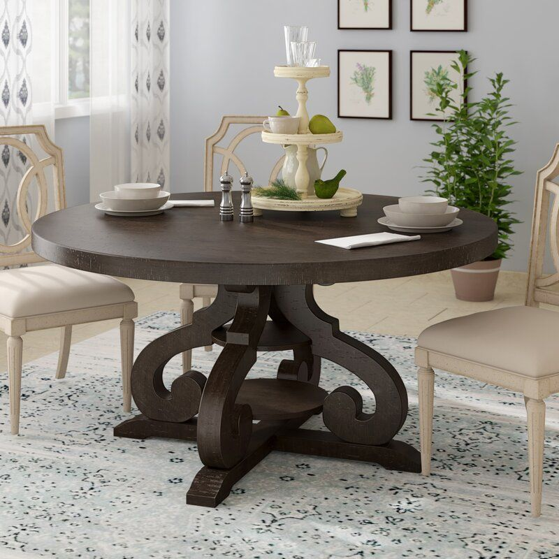 Fosston Solid Wood Dining Table Wood Dining Table Dining Table Contemporary Round Dining Table