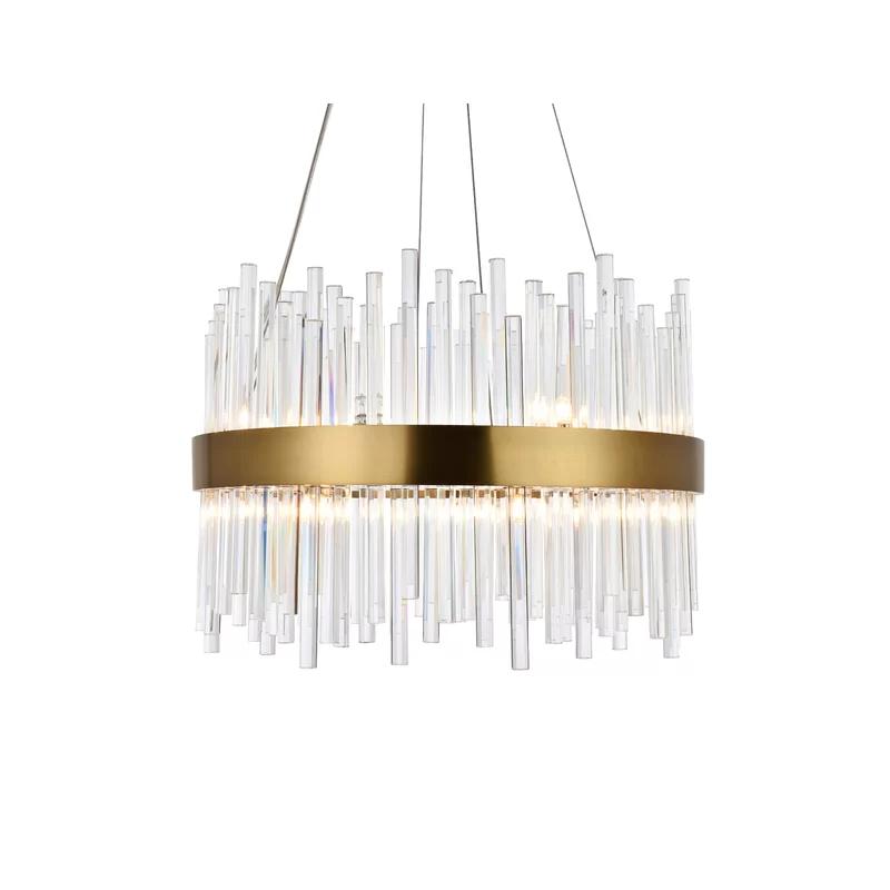 Perlo 14 Light Shaded Geometric Chandelier In 2020 Light Shades Chandelier Ceiling Lights