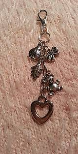 Kľúčenky - kľúčenka, ozdoba na tašku s macíkom - 5123307_