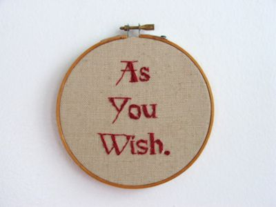 Book quote embroidery