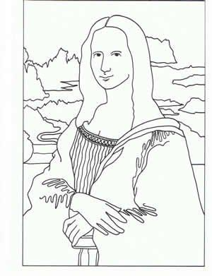 If I Ever Need Coloring Pages Of Famous Paintings I Don T Know Mona Coloring Page