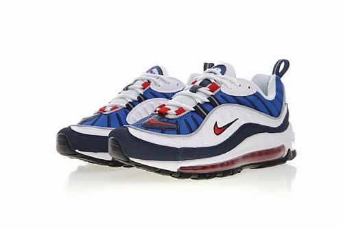 "Nike Air Max 98 ""Gundam"" White University Red Obsidian"