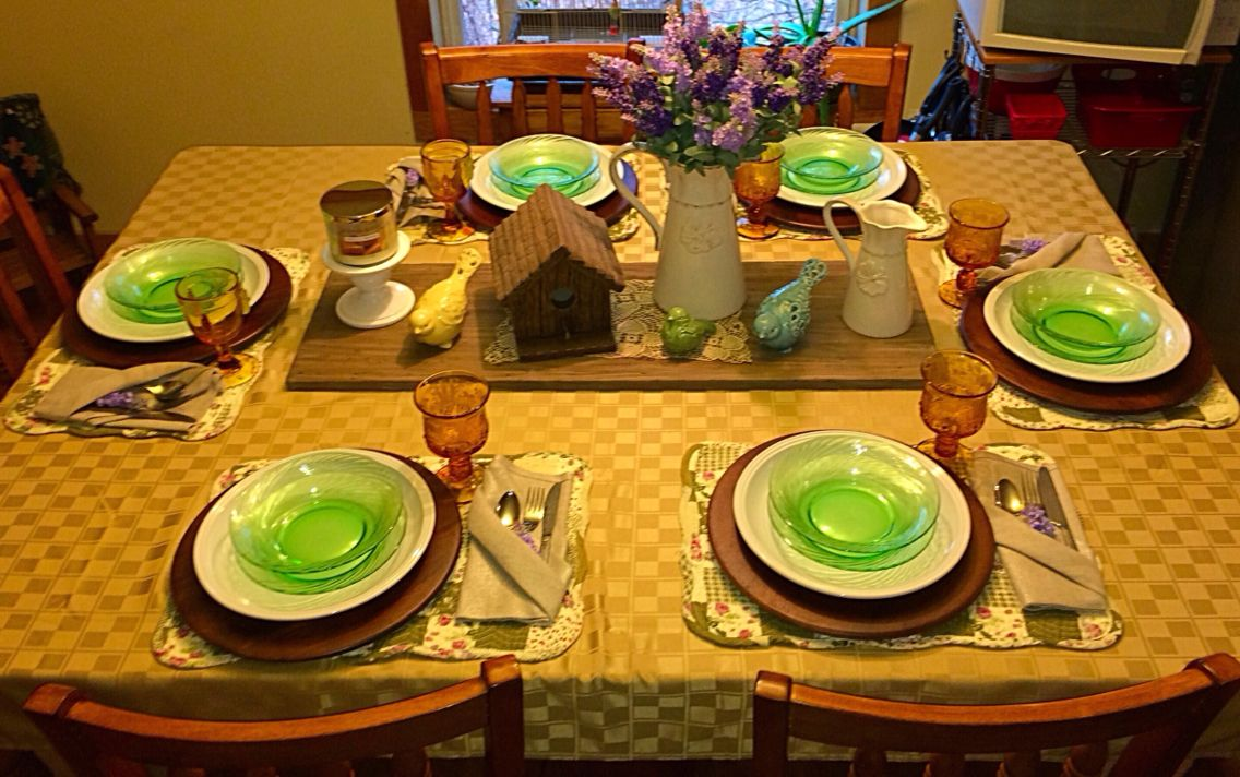 Country Spring Tablescape Love my country home!  2015