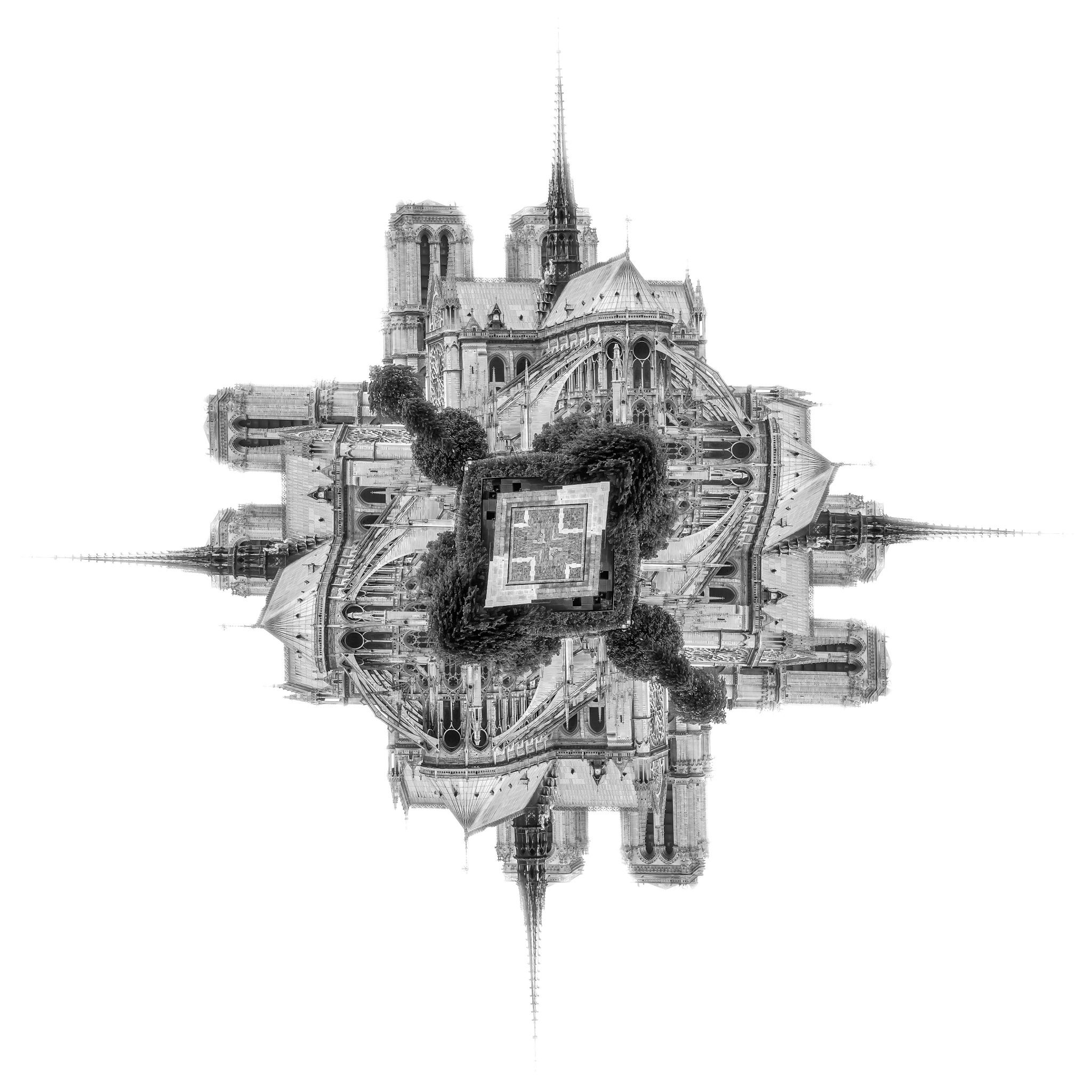 Notre-dame de Paris - Each monument consists on its own architectural identity of a city...