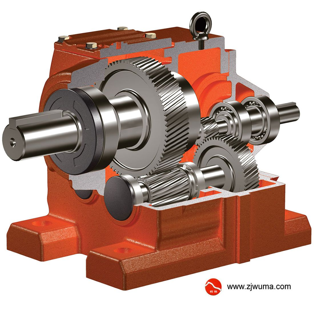 WUMA reducer R series helical gearbox In-line shaft Output torque