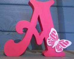 Get your childs' name or intials handmade - various colours and sizes available.