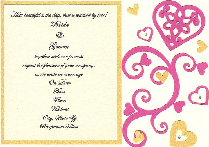 SAMPLE WEDDING INVITE