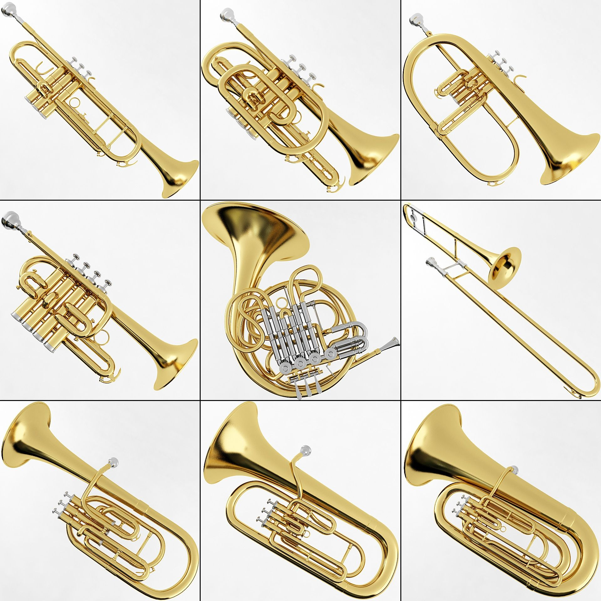 All the brass instruments revolve around the French Horn