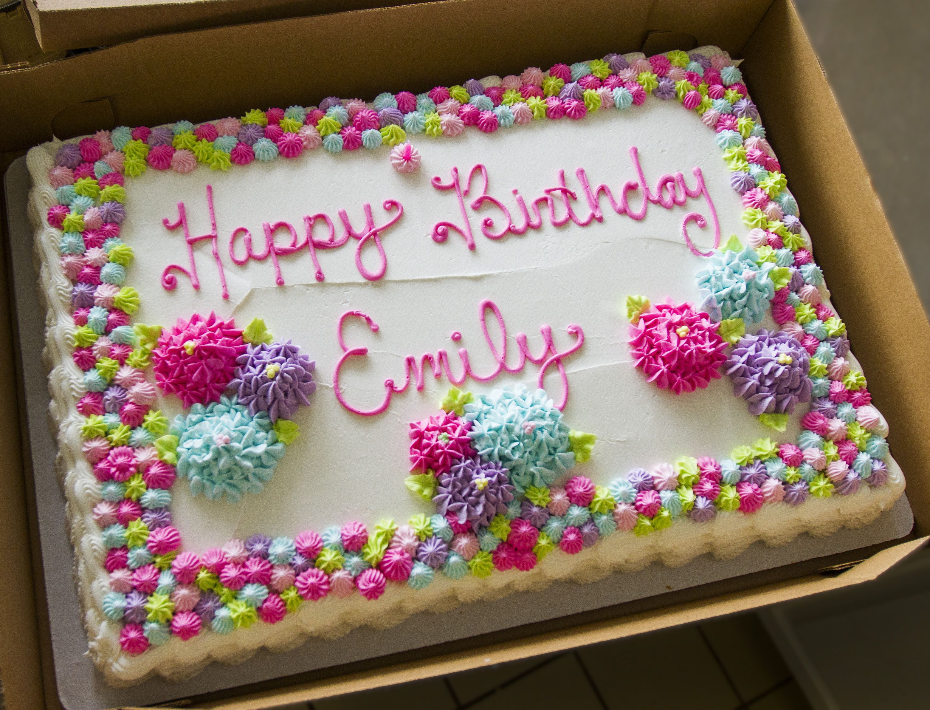 Sheet Cake Birthday Decorating Ideas : A classic floral sheet cake for a birthday celebration ...