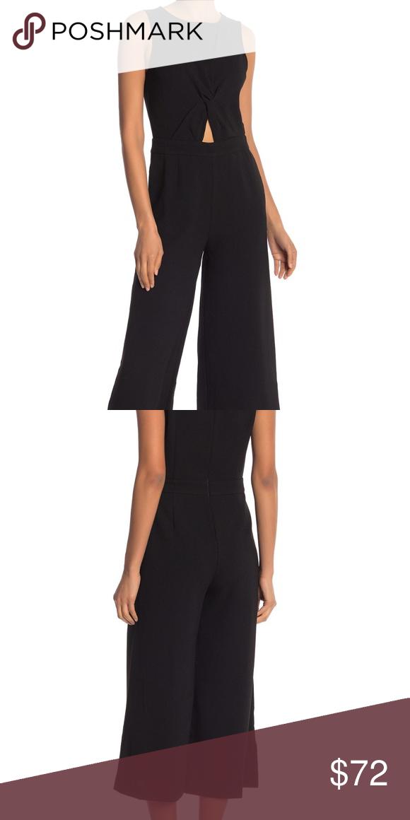RACHEL Rachel Roy Black Sleeveless Wide-leg Jumpsuit XS