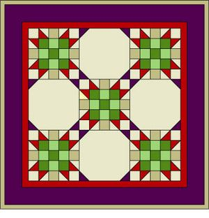 Please rescue this ugly little quilt, made from a combination of star quilt blocks and snowball blocks. You can do it better.: Star Quilt Cutting Instructions