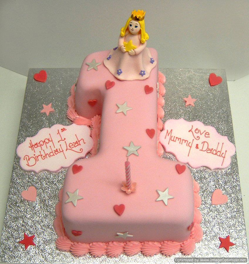 St Birthday Cake Decorations For A Girl Google Search Baby - 1st girl birthday cake