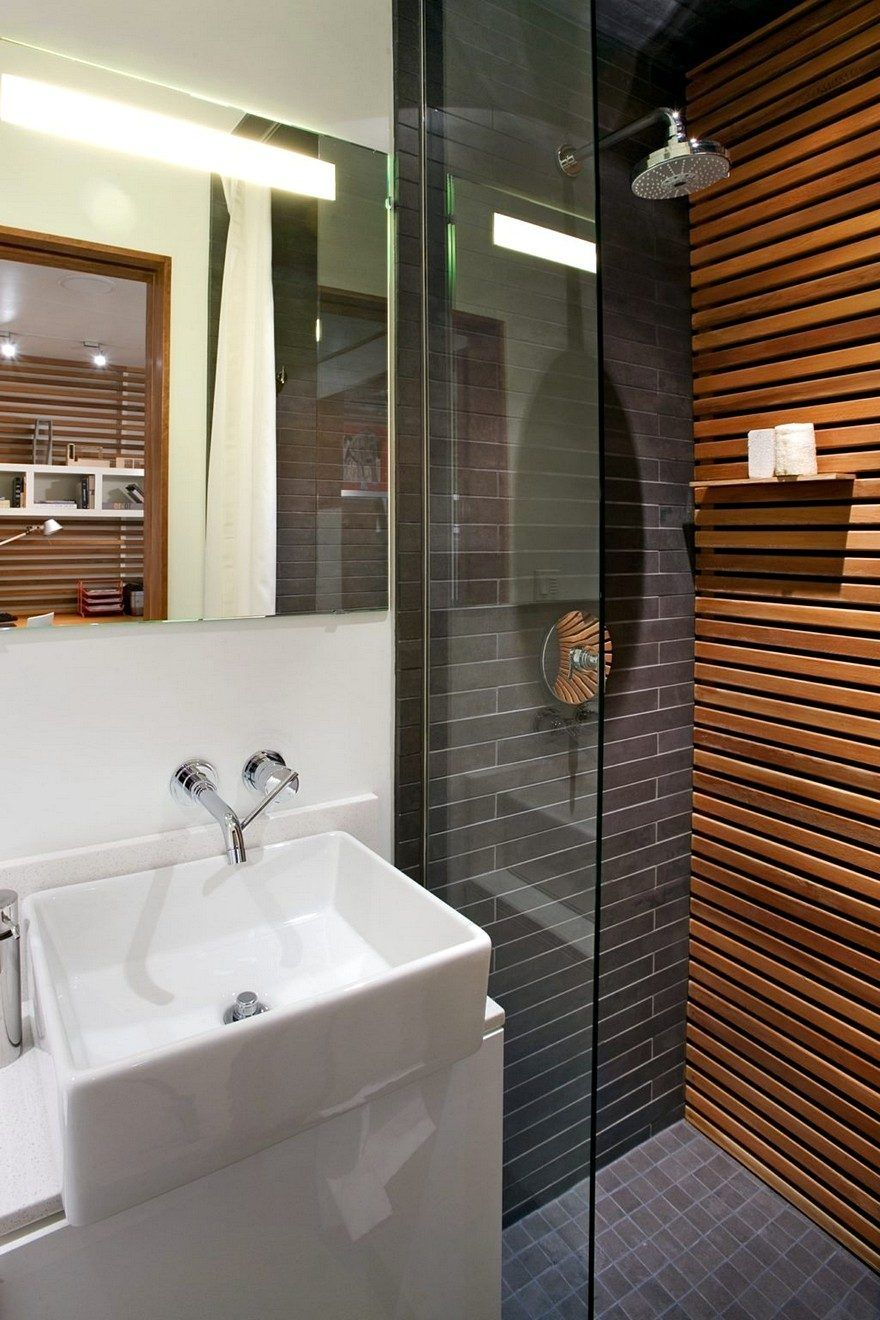 Rowhouse By S Architects Modern Live Work Rebuild In Aspen - Bathroom rebuild