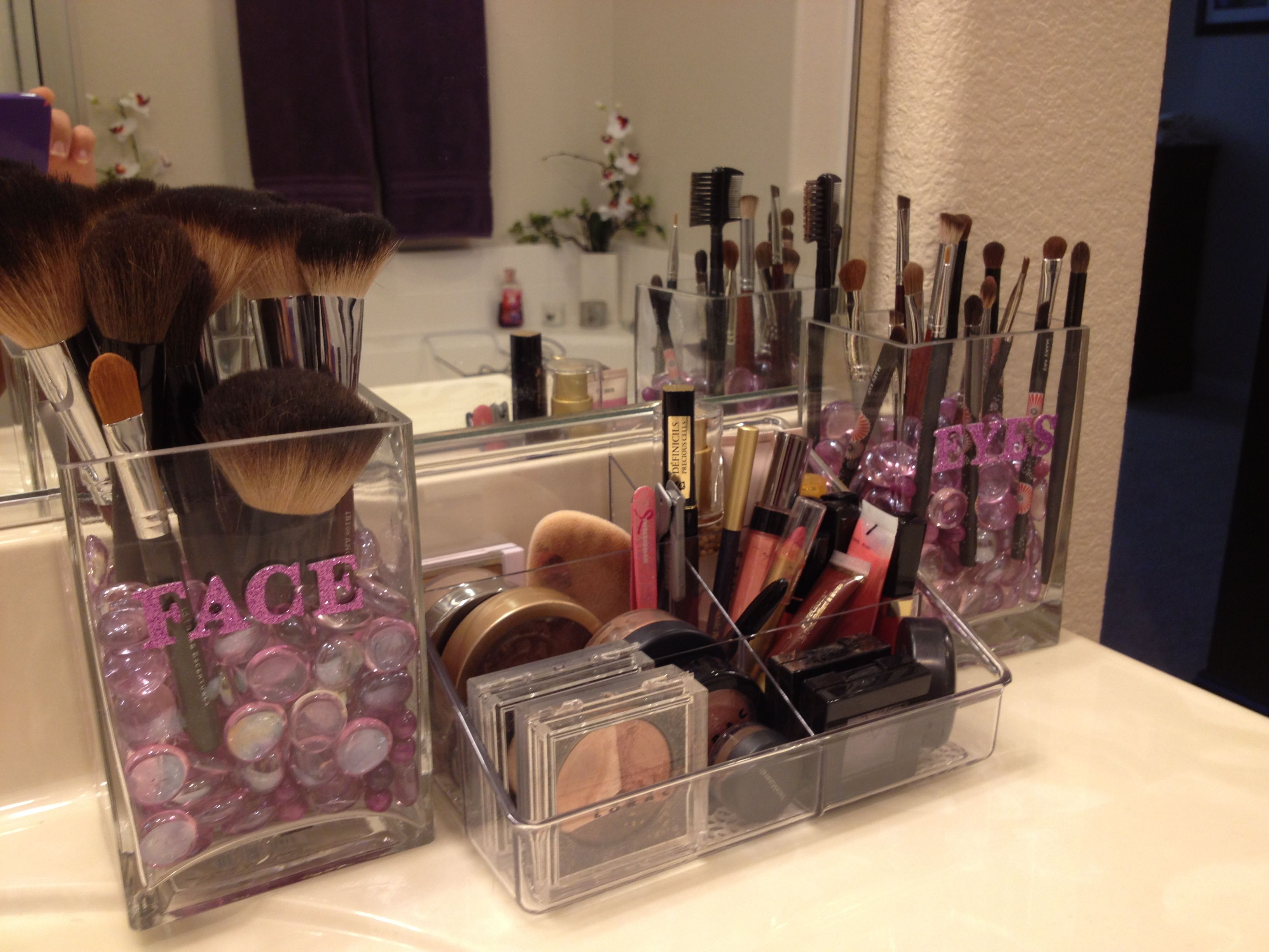 My New Make Up Storage Thanks To Other Great Pins I Got The