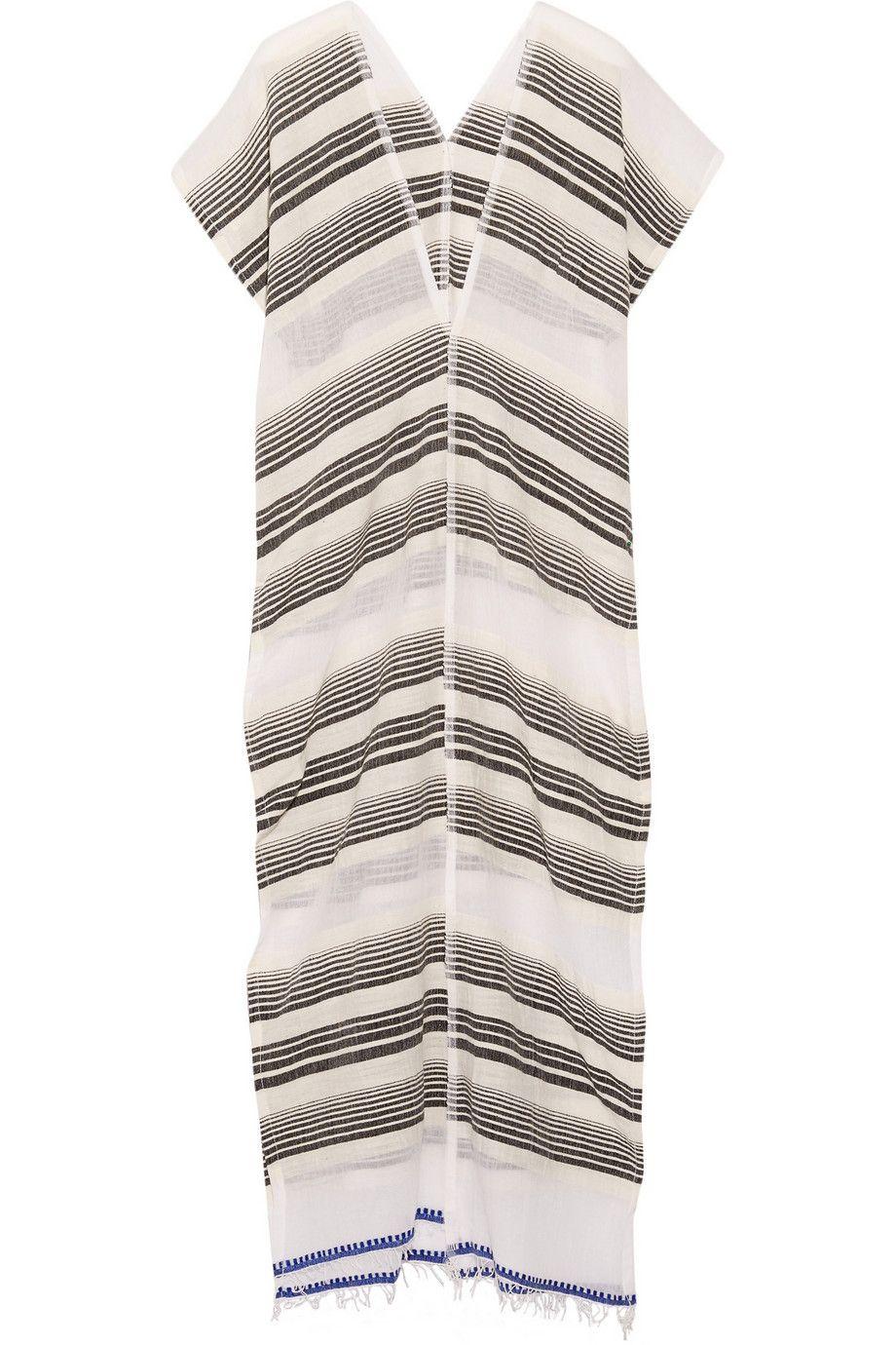LemLem|Nunu striped cotton-blend gauze coverup|NET-A-PORTER.COM