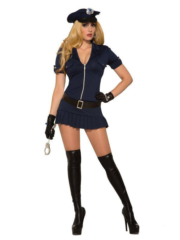 Sexy Police Cop Uniform Officer Costume Womenmens Cosplay Fancy Dress Outfit