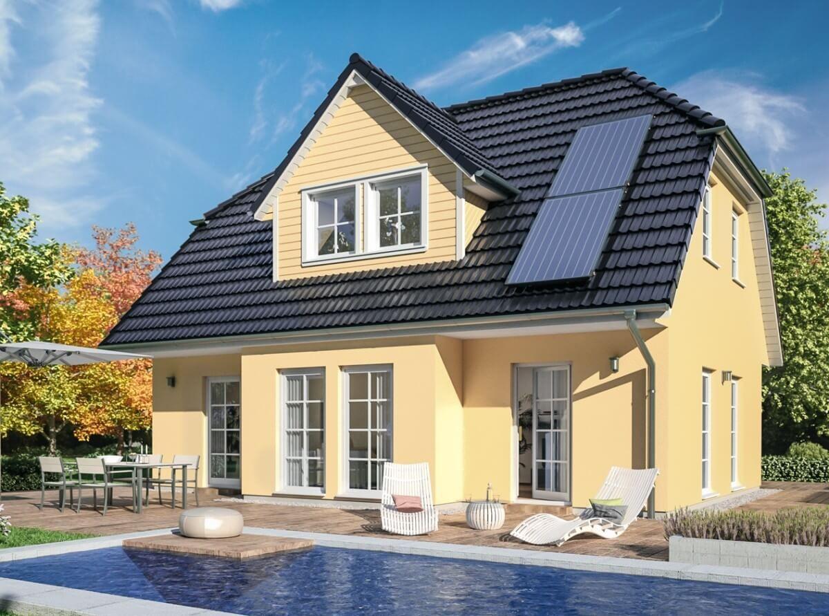 Einfamilienhaus Neubau Im Landhausstil Klassisch Mit Kruppelwalmdach
