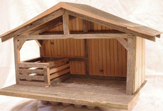 Wooden Nativity setting Creche made from by HenrysSandbox ...