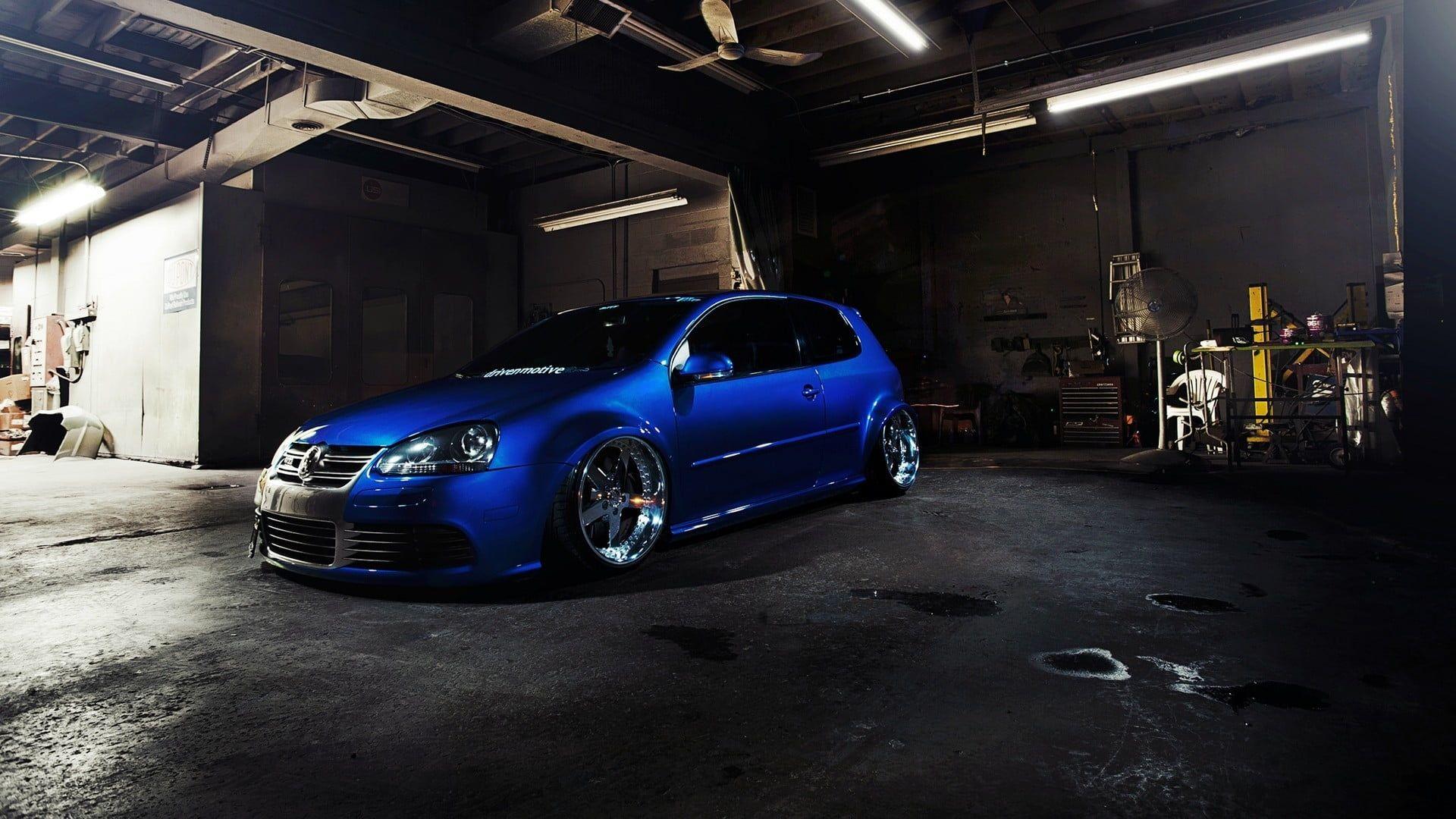 Stance Volkswagen Golf V Car Tuning Golf Gti R32 Blue Cars 1080p Wallpaper Hdwallpaper Desktop Volkswagen Golf Vw Beetle Turbo Volkswagen