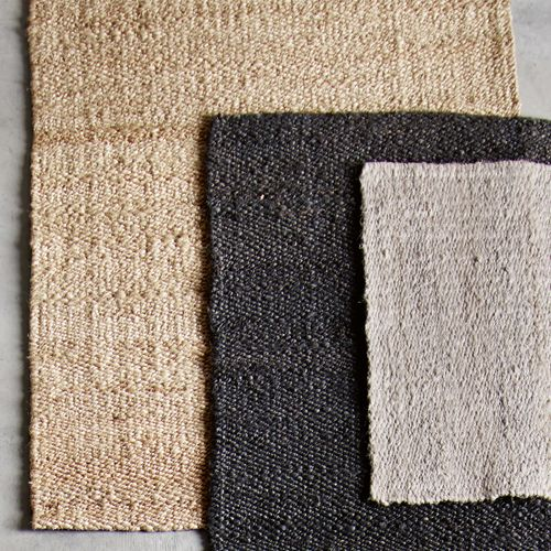 tapis descente de lit en jute et chanvre 60x90 cm tine k. Black Bedroom Furniture Sets. Home Design Ideas
