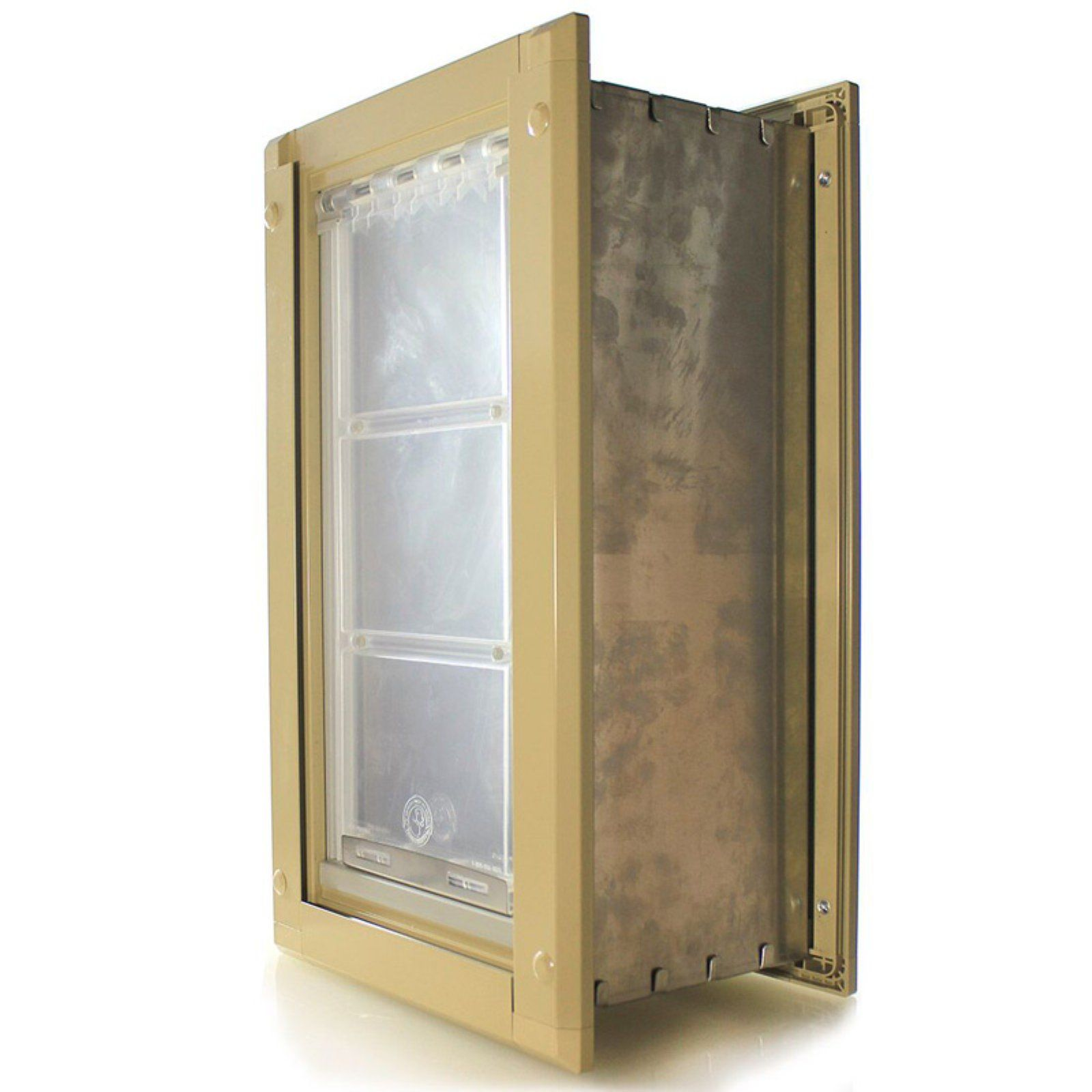 Endura Flap Pet Doors Single Flap Pet Doors for Walls Tan