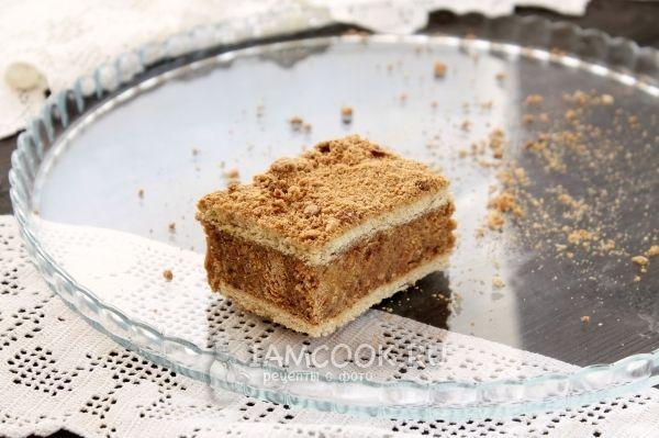 Торт из печенья и сметаны без выпечки — рецепт с фото ...