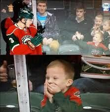 Charlie Coyle of MN WILD making a fans day!!