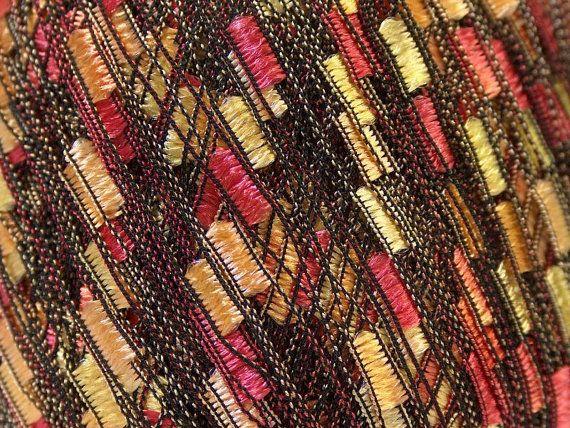 Yarn trellis ICE LADDER yarn yellow orange red by specialyarnshop, $4.00