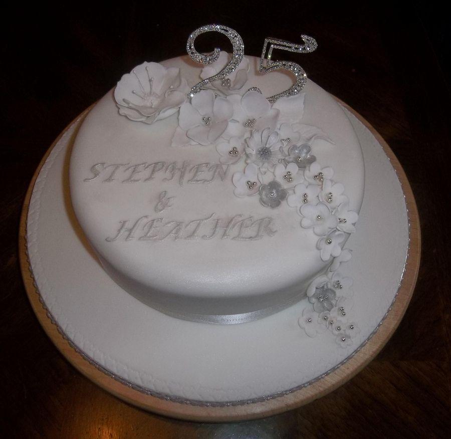 Silver Wedding Silver Wedding Cake Wedding Anniversary Cakes