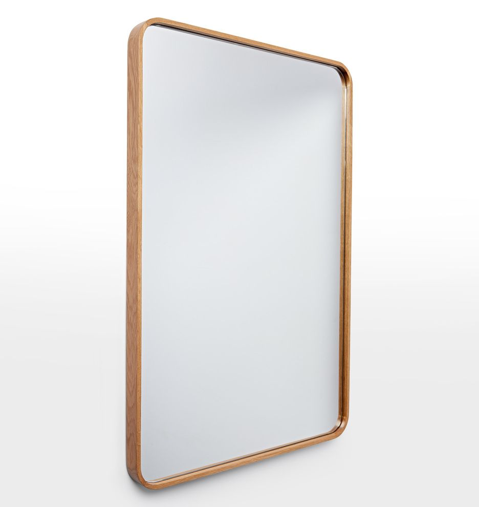 bentwood rounded rectangle mirror | rounded rectangle, white oak