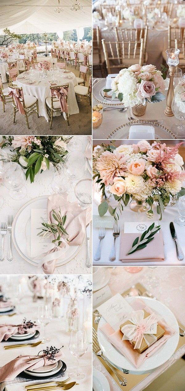Top 15 So Elegant Wedding Table Setting Ideas for 2018 | Pinterest ...