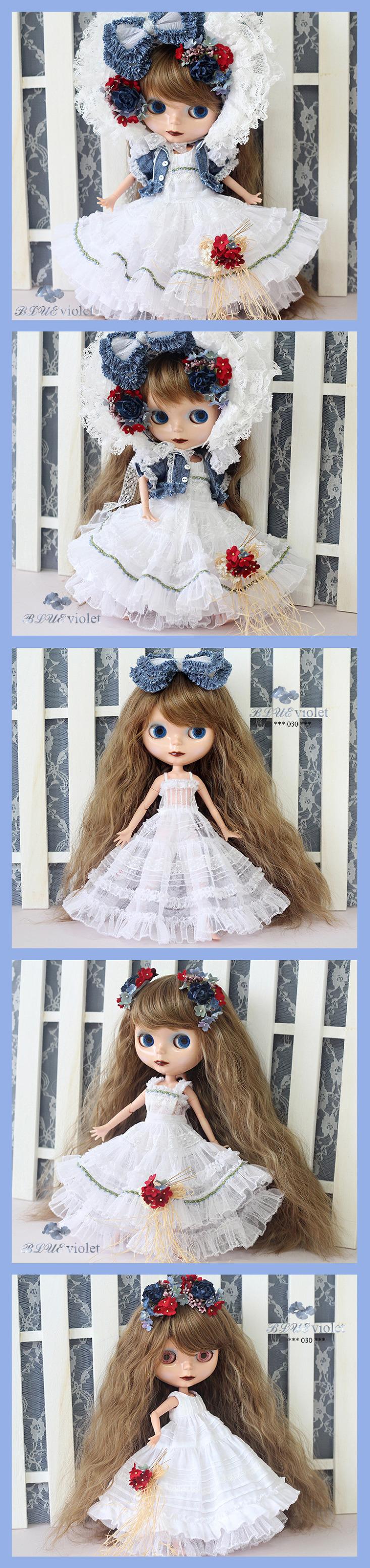 **BLUEVIOLET** BLYTHE dress set No.030** - ヤフオク!