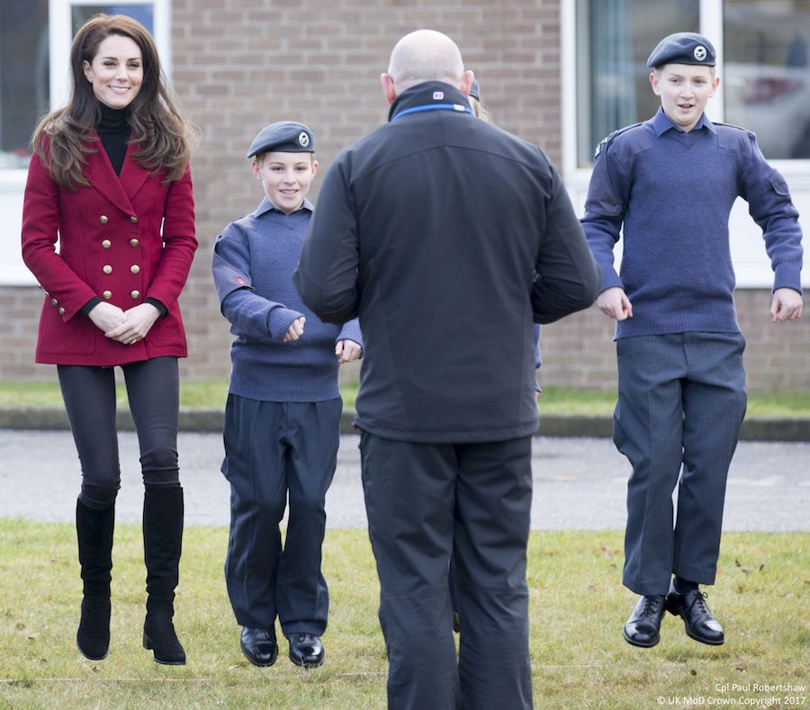 Kate Takes Part In An Air Cadets Skills Development Camp