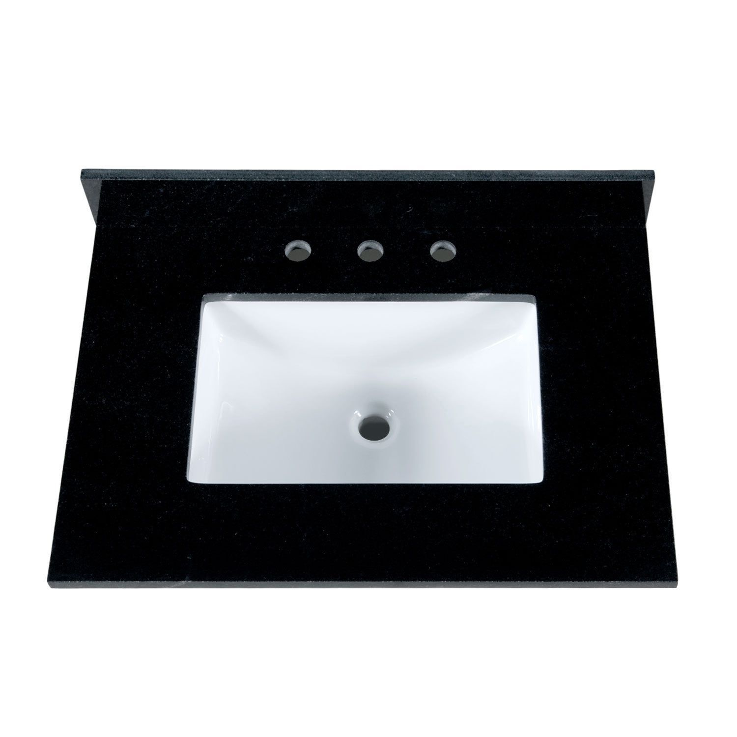 Maykke 31-Inch Black Granite Countertop with 8-Inch Widespread ...