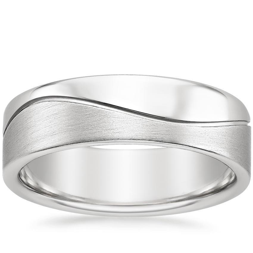18k White Gold Wave Wedding Ring In 2019 Wedding Rings Wedding