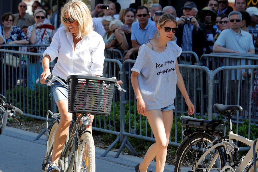 Weekend sportif pour Emmanuel et Brigitte Macron Macron