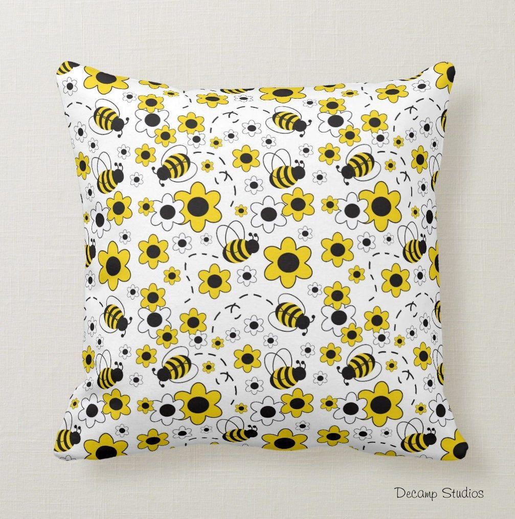 BUMBLE BEE THROW Pillow Baby Girl