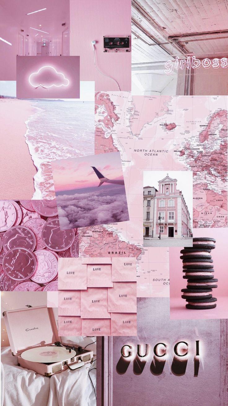 pink purple aesthetic hintergrund