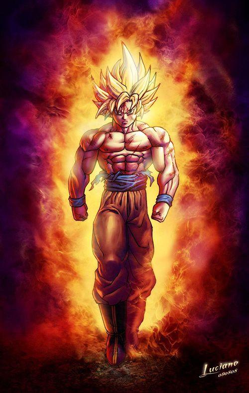 Super Saiyan Goku Dragon Ball Z Dbz Pinterest