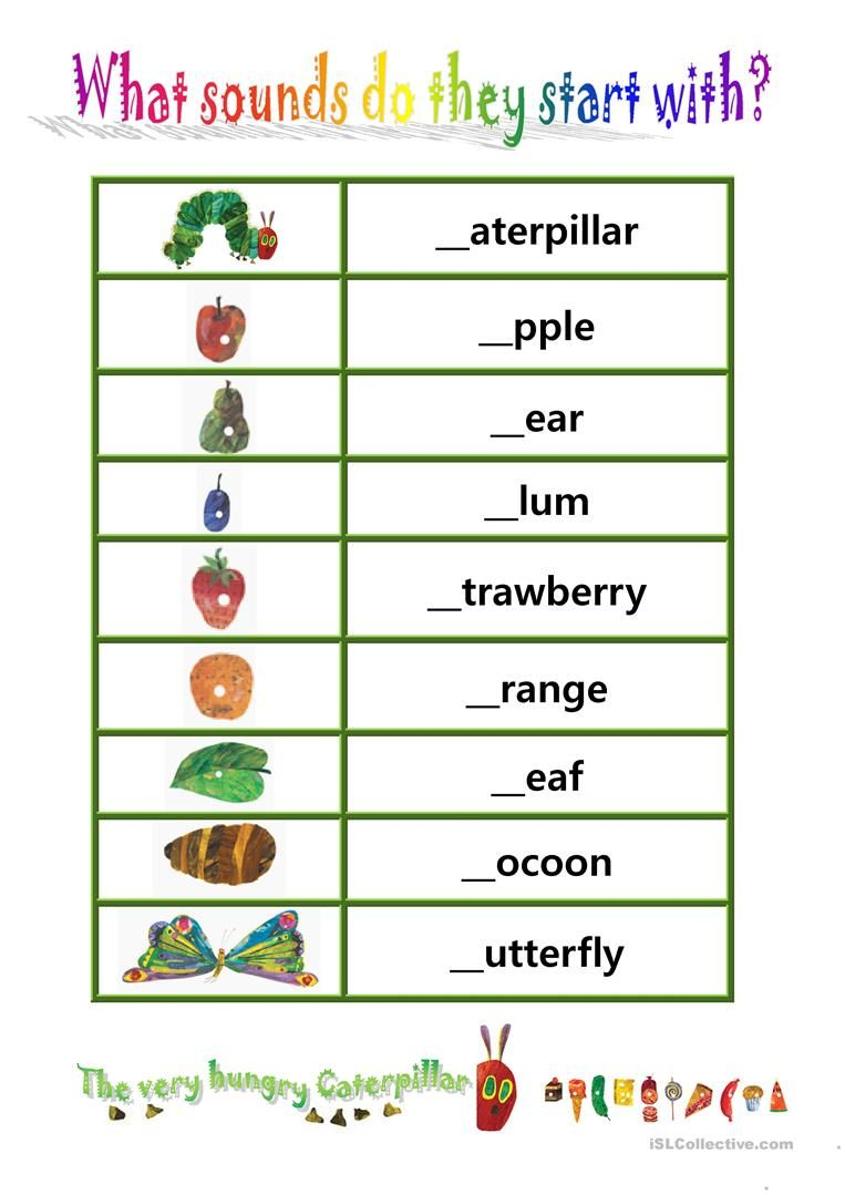 Phionics Beginning Sound With The Very Hungry Caterpillar Worksheet F Hungry Caterpillar The Very Hungry Caterpillar The Very Hungry Caterpillar Activities [ 1079 x 763 Pixel ]