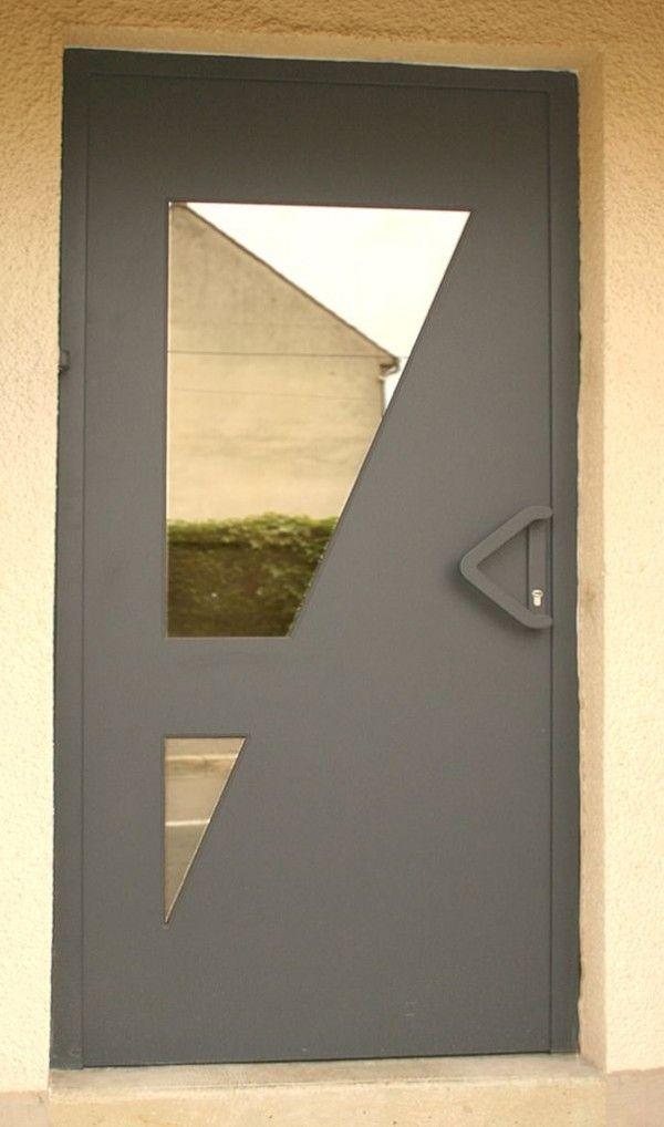 Porte d 39 entree moderne serie design portes vente de - Porte d entree moderne ...