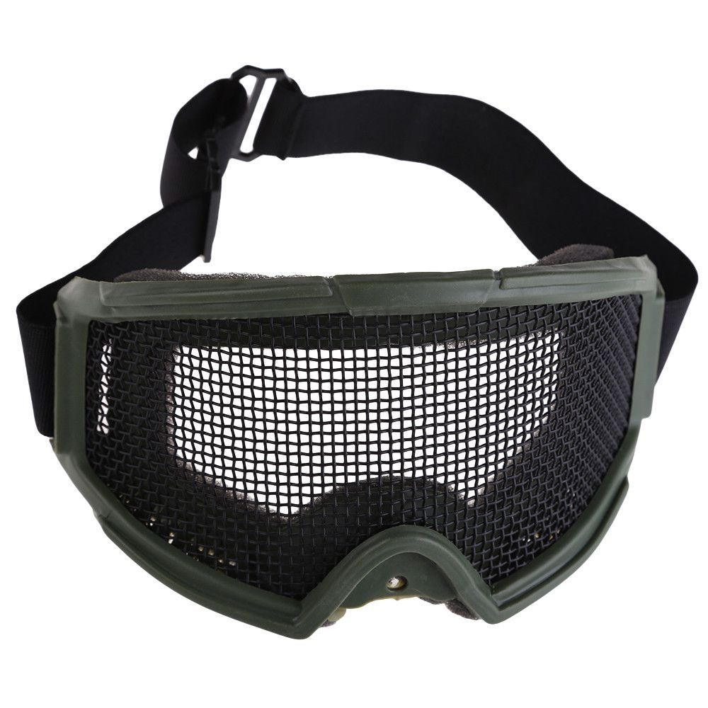 b0969f5aac7 Hunting Airsoft Tactical Eyes Protection Metal Mesh Pinhole Glasses Goggle  SS