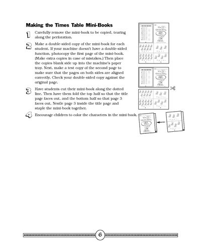 Minibook Making the Times Table Multiplication, Multiplication - multiplication table