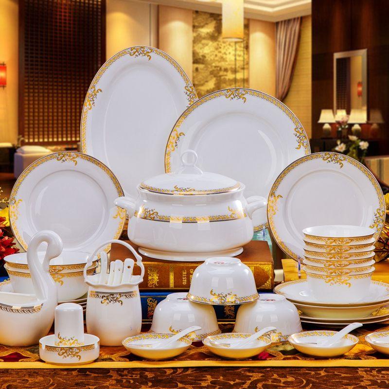 Top Quality Ceramic Tableware Set 56pcs Bowl Dishes Suit Porcelain Dinnerware Set Wedding Gift Affiliate Ceramic Tableware Tableware Set Dinnerware Set