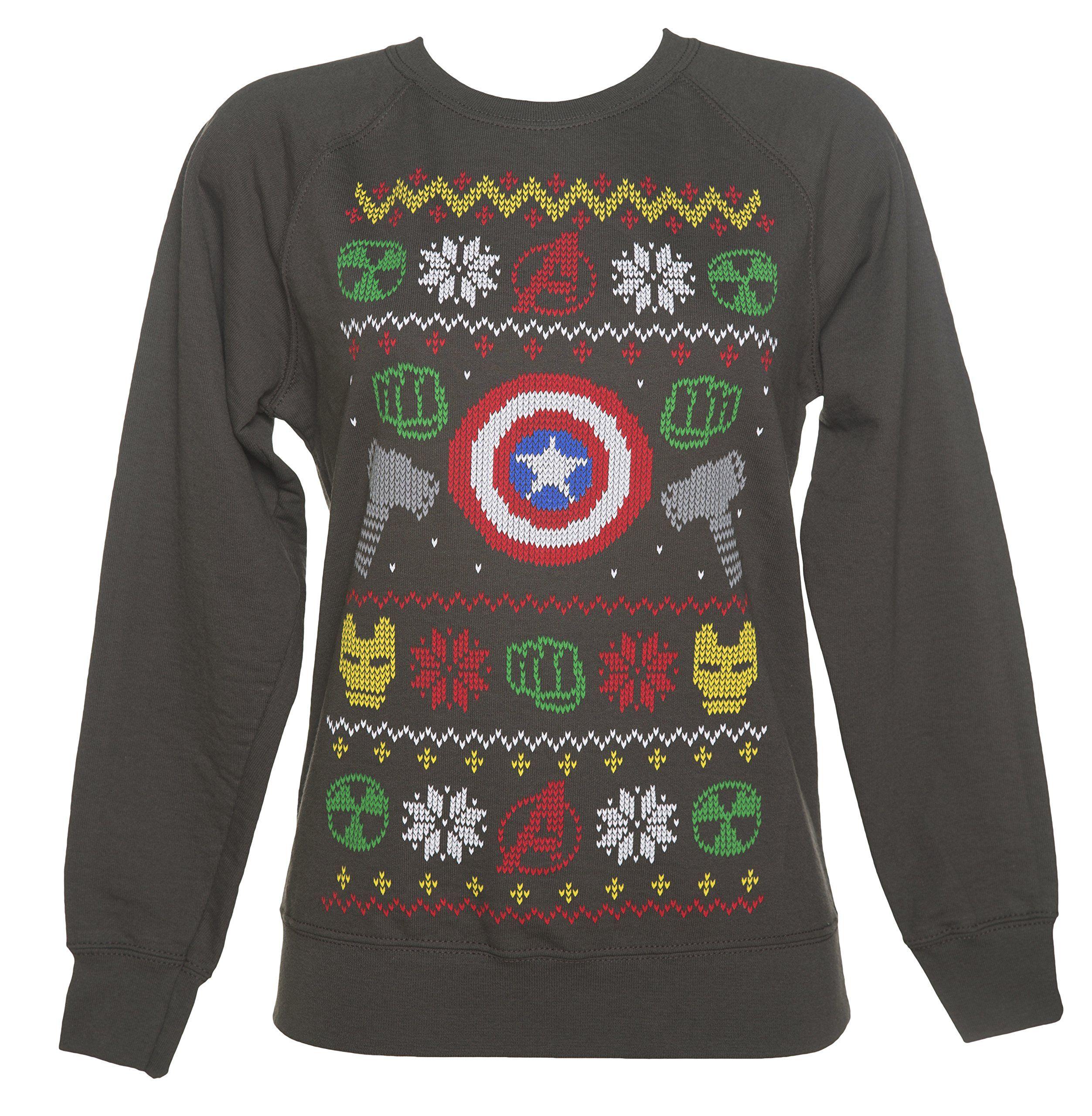 Marvel Superhero Symbols Ugly Christmas Sweater | The Best Ugly ...