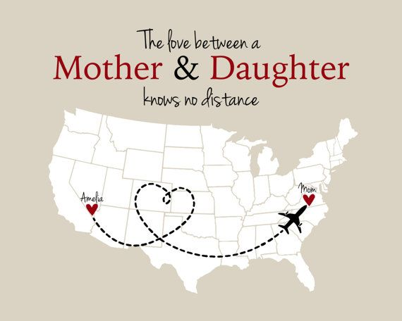 Mother and Daughter Long Distance Print by